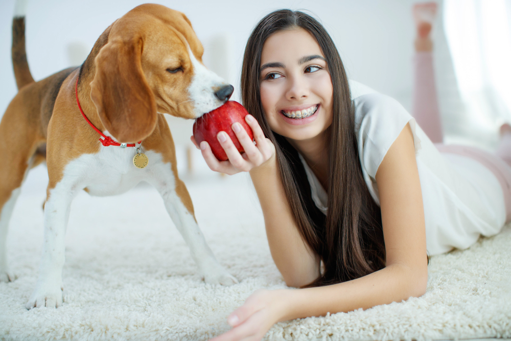 dog-bites-apple-from-girl